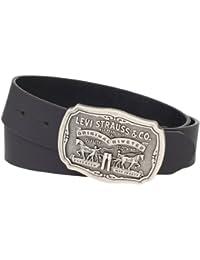 Men's Leather Belt With Antiqued