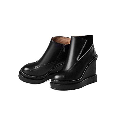 Runde Støvler Læder Sko Med Ægte 39 Støvler Vandtætte xEfYvwBqw