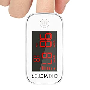 Pulse Oximeter, Oxygen Monitor Finger Heart Rate Monitor Oxygen Saturation Monitor Adult and Child with OLED Display