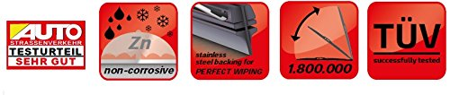 Alca Germany Spoiler Windscreen Wiper Blades Front Replacement Set 2114 AUS2114H Micra 2010-2017