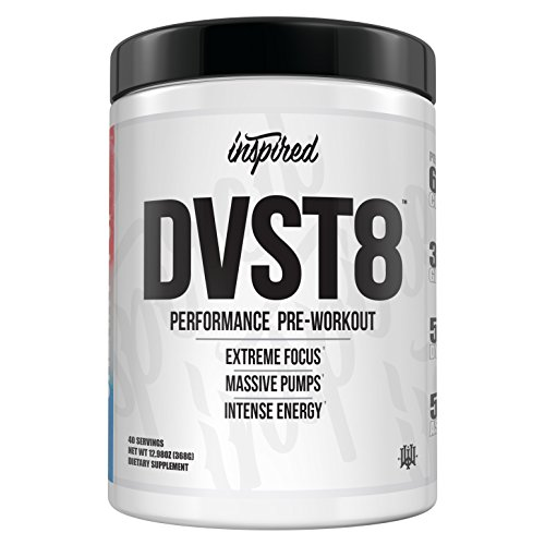 Inspired DVST8 | Extreme Performance, Energy, Pumps, and Nitric Oxide, Yohimbe Free Pre-Workout Powder, Citrulline, Beta-Alanine, Dynamine (Apple Orchard) For Sale