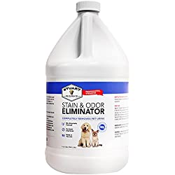 Professional Strength Stain & Odor Eliminator-Enzyme-Powered Pet Odor & Stain Remover for Dog & Cats Urine #1 Fresh Clean Scent 100% (Gallon)