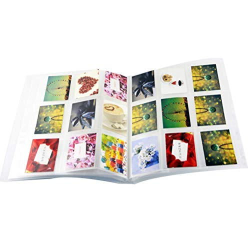 Vosarea Photo Album 3 Inch 9 Lattices Vertical Transparent Matte Insert Picture Album Train Tickets Storage Book (16 Pages/288 Sheets)