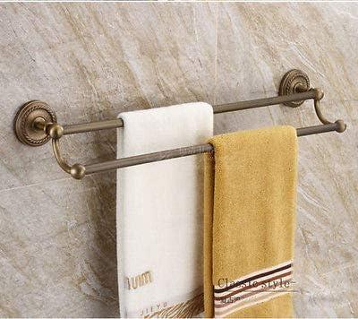 Antique Brass Bathroom Wall Mount Towel Bar Soap//Toilet Paper//Brush Holder Hooks