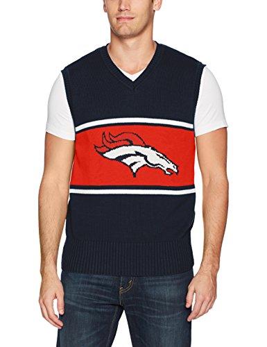 (NFL Denver Broncos Men's Ots Sweater Vest, Medium, Fall)