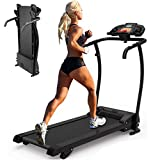 Cartkningts Treadmill Electric Motorised Folding Running Machine With Adjustable Incline, Silent Household Fitness Running Machine
