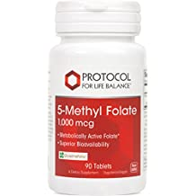 Protocol For Life Balance - 5-Methyl Folate 1,000 mcg - Metabolically Active Folic Acid 5-MTHF - Supports Brain, Heart, & Nerve Health, Helps Improve Immune System, Healthy Pregnancy - 90 Tablets