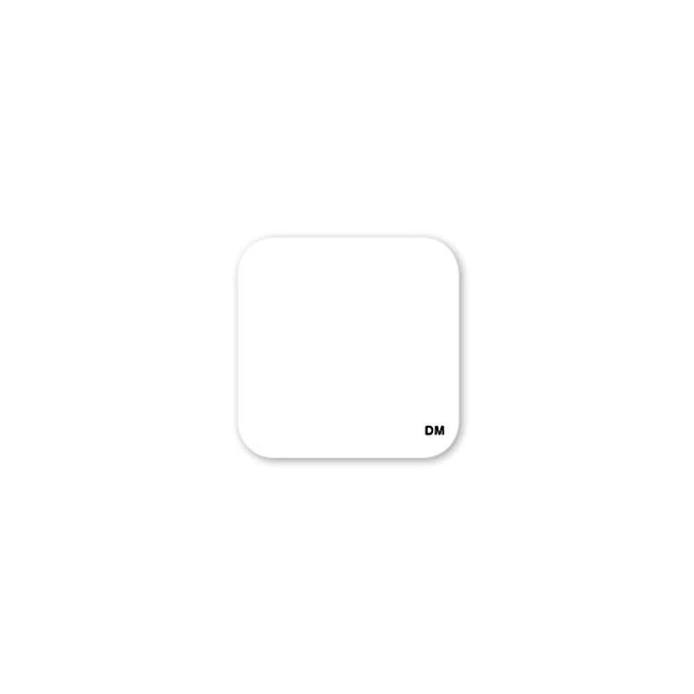 DayMark 110078 DissolveMark 1'' Blank White Label - 500 / RL