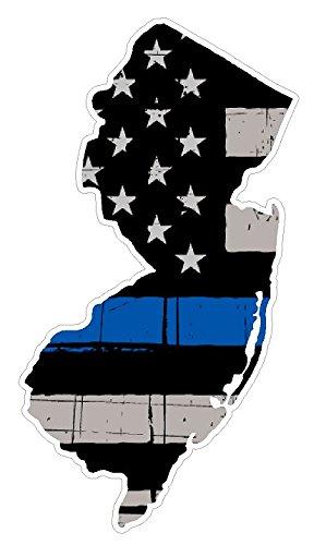 New Jersey State (V31) Thin Blue Line Vinyl Decal Sticker Car/Truck Laptop/Netbook Window