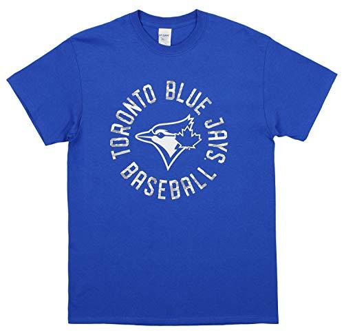 - Zubaz MLB Men's Circle Logo Cotton T-Shirt, Toronto Blue Jays, Medium