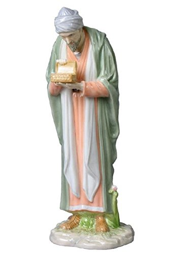 8.75 Inch Porcelain Figurine Melchior King of Arabia Offering - Melchior King Figurine