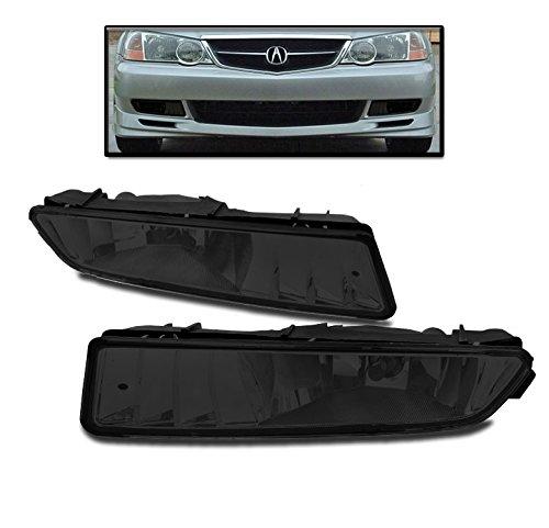 ZMAUTOPARTS Acura Tl Bumper Driving Fog Lights Lamps Smoke W/Bulb New Set Base TypeS