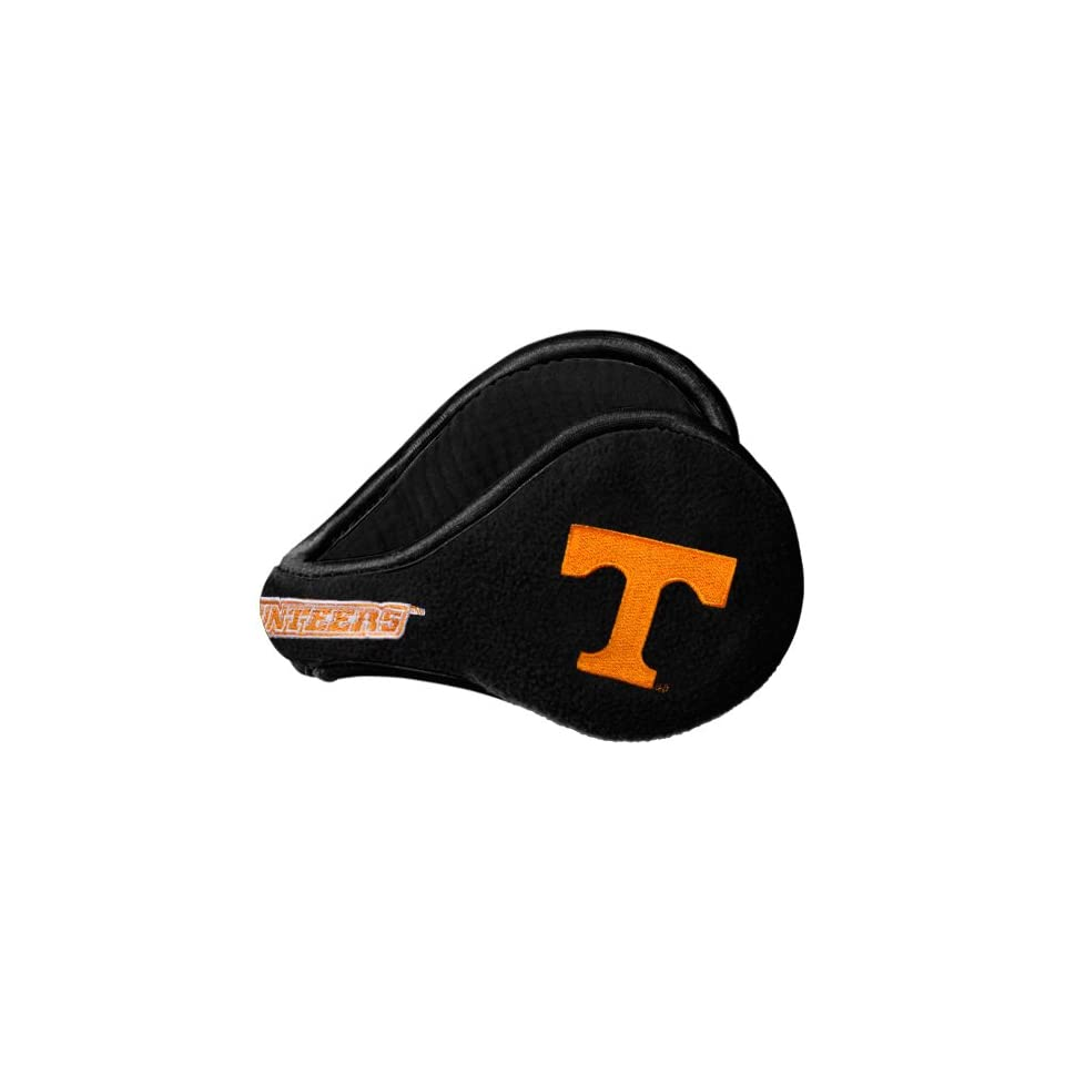 NCAA Tennessee Volunteers Fleece Logo Ear Warmers   Black