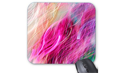 103 Petal (Xueyu Rose-Petal Pink and Gold Glitter Snowy Wisps of Tresses Print Mouse Pad.)