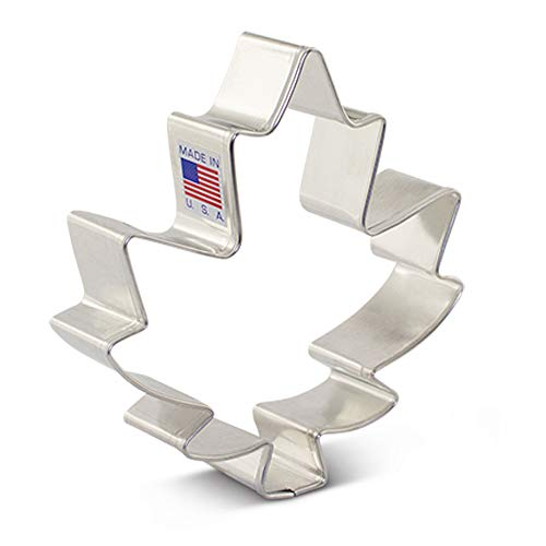 Large Maple Leaf Cookie Cutter - 4 Inch - Ann Clark - USA Made Steel (Maple Leaf Cutter Cookie)