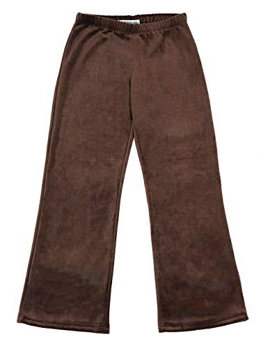 Vivian's Fashions Pants - Girls, Velour (Brown, ()