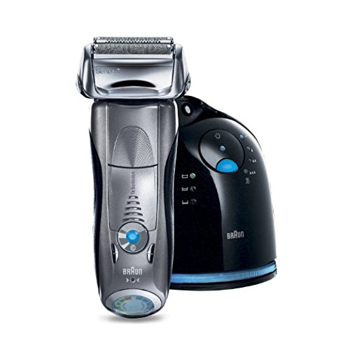 Braun Series 7 790cc-7 Electric Shaver for Men with Clean & Charge System, Premium Silver Cordless Razor, Razors, Shavers, Pop up Trimmer, Travel Case
