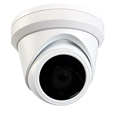 GW Security 5MP HD 1920P H.265 PoE 3.6mm Wide Angle Day & Night Vision Weatherproof Security IP Dome Camera, Power Over Ethernet from GW Security Inc
