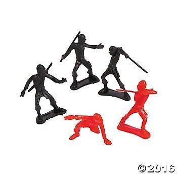 Party Favors Ninja Action Figures 18 pcs
