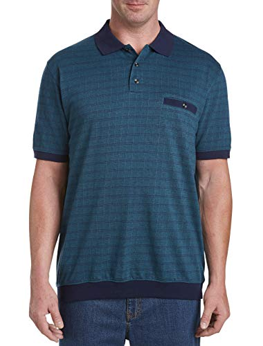 Harbor Bay by DXL Big and Tall Large Square Banded Bottom Shirt