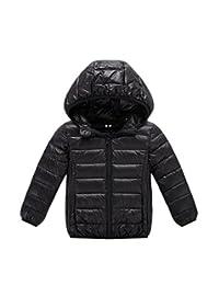 Lemonkids Children Boys Girls Winter Down Jacket Chic Lightweight Anoraks Black