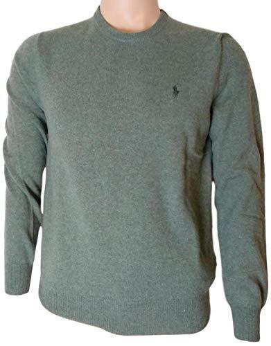 ns Crewneck Wool Sweater (L, GreenHtr) ()