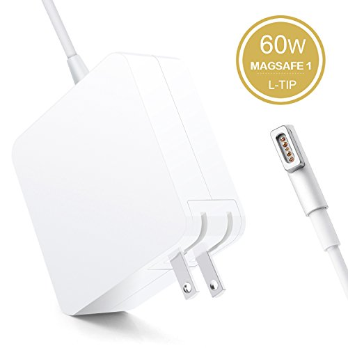 Halcent Macbook Pro Charger, 60W Magsafe Power Adapter with MagSafe 1 L-Tip, 60W Magsafe Charger for MacBook Pro/Air 11.6/13.3, Mac Pro Laptop A1278 Charger 16.5V 3.65A (Mid2012 Before) (Mac Pro Charger 2010)