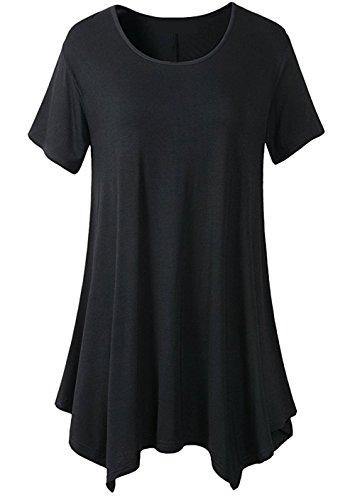 Original Black Ranger Costume (LONSANT Womens Swing Loose Fit Short Sleeve Comfy Tunic T Shirt (XXL, Black))