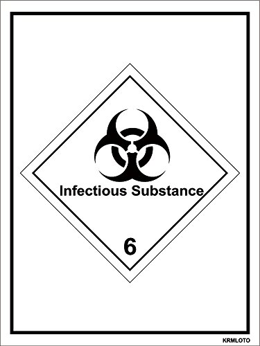 Self Adhesive Labels - Infectious Substance (Set of 50 pcs)