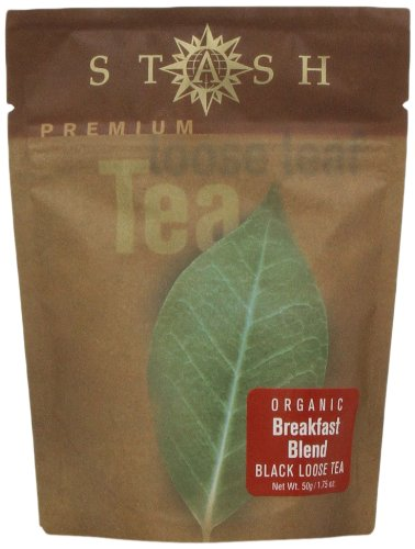 Stash Premium Organic Breakfast Blend, Loose Leaf Tea, 1.75 Ounce Pouch