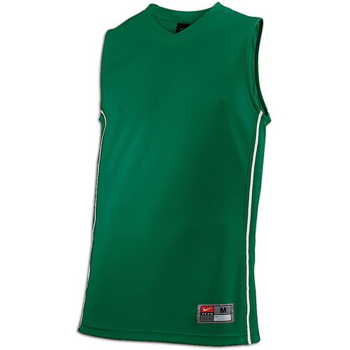 Nike Mens Baseline Basketball Jersey Green/White Size - A Basketball Summer Is Olympic Sport