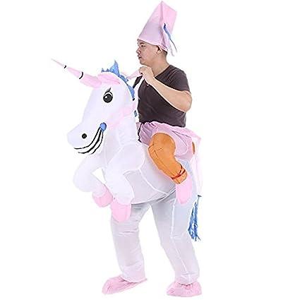 Dolass Disfraz Inflable de Unicornio Adulto Disfraz ...