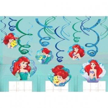 Disney Ariel The Little Mermaid Dream Big Swirl Value 12 Pack Party Supplies