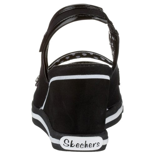 Girl Friday Skechers nero Nero 37332 Col Tacco Ammaliare Scarpe aFx56Aqw