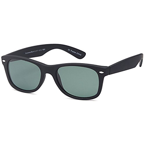 GAMMA RAY Classic Polarized Sunglasses for Kids Ages 5-10 – Black Frame Olive - Sunglasses $5