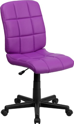 Flash Furniture Mid-Back Purple Quilted Vinyl Swivel Task Chair (Chair Purple Computer)