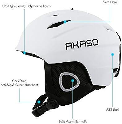 ace969779855 AKASO Ski Helmet