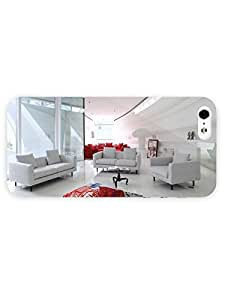 iPhone 5&5S Case - Photography - White Living Room 3D Full Wrap