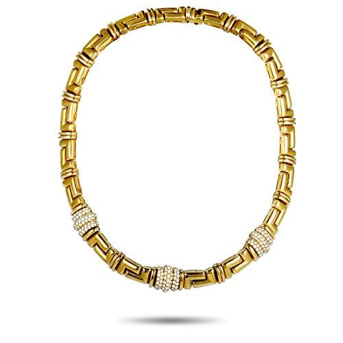 Bvlgari (Est.) Bvlgari 18K Yellow Gold Diamond Collar Necklace