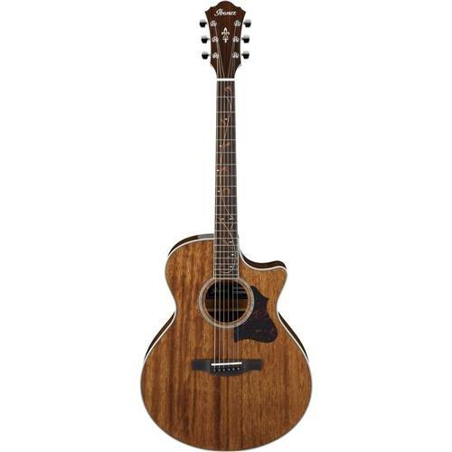 (Ibanez AE Series AE245NT Semi-Acoustic Guitar, Solid Mahogany Top, Mahogany Back and Sides, 20 Frets, Mahogany Neck, Rosewood Fretboard, Natural)