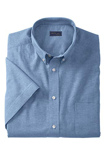 Ks Signature Men's Big & Tall Wrinkle-Resistant Short-Sleeve Oxford Shirt, -