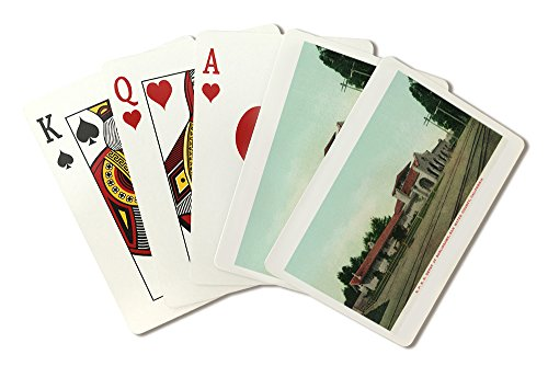 - Burlingame, California - Exterior View of The Southern Pacific Railroad Depot (Playing Card Deck - 52 Card Poker Size with Jokers)