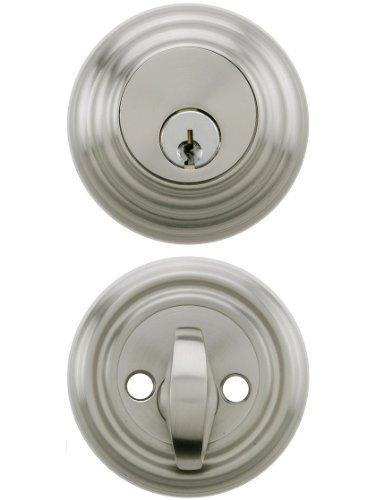 Emtek Parts - Solid Brass Single Cylinder Low Profile Deadbolt Satin Nickel With 2 3/8 Backset. Mortise Lock Parts. by Emtek
