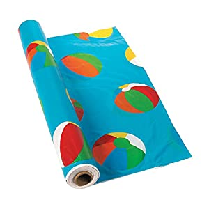 Beach Ball Tablecloth Roll - 100 Ft. X 40""