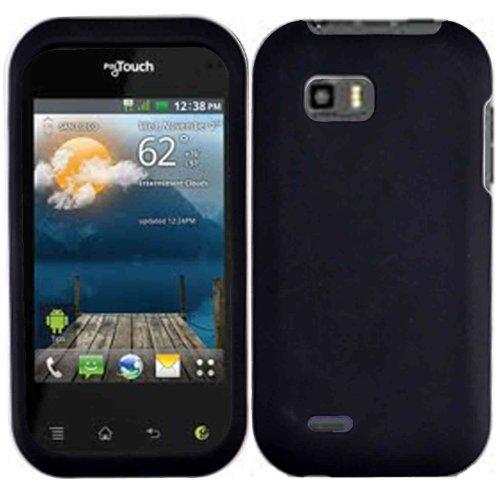 amazon com black hard case cover for lg mytouch q lg maxx qwerty rh amazon com