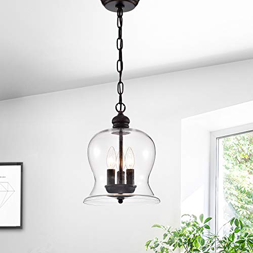Warehouse of Tiffany Cadogan 3-Light Pendant with Clear Shade RL8114UP