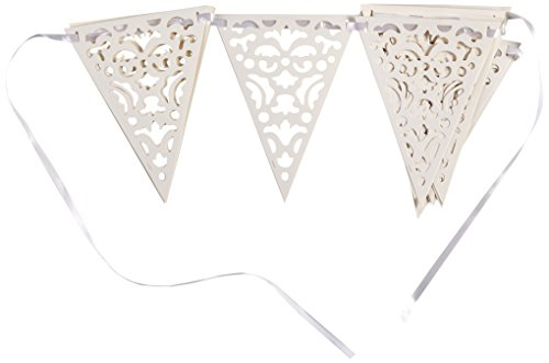 (10.9ft Die Cut Paper White Lace Pennant)