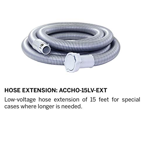 (Nadair Universal Low-Voltage Central Vacuum, 15ft Hose Extension, 15 FT,)