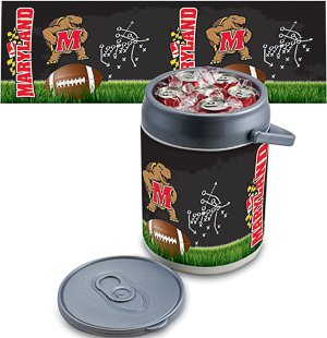 PICNIC TIME NCAA Maryland Terrapins Football Digital Print Can Cooler, One Size, Silver/Gray