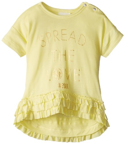 Diesel Baby-Girls Newborn Tanikib Jersey Tunic with Mesh Details Spread The Love, Limelight, 9 (Diesel Baby Girl)